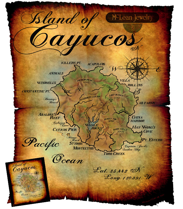 Island of Cayucos Posters and T-Shirts