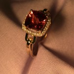 mclean-jewelry-Padparasha-Sapphire-and-diamond-Ring